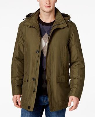 Perry Ellis Men's Big and Tall Hooded Parka - Coats & Jackets ...