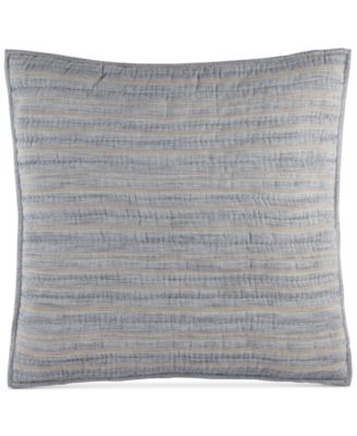 Linen Stripe Quilted European Sham, Created for Macy's