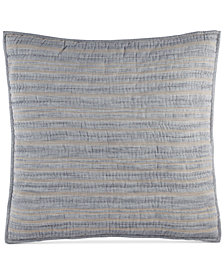 Hotel Collection Linen Stripe Quilted European Sham, Created for Macy's