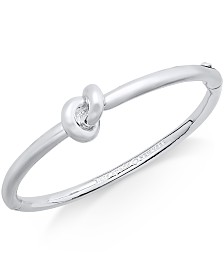 kate spade new york Bracelet, Sailor's Knot Hinge Bangle Bracelet