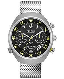 Bulova Accutron Men's Chronograph Stainless Steel Bracelet Watch 45mm 96B236