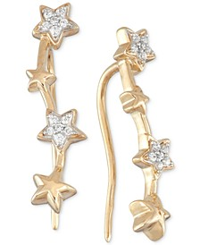 Diamond Multi Star Ear Crawlers (1/10 ct. t.w.) in 10k Gold, Created for Macy's
