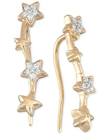 Wrapped in Love™ Diamond Multi Star Ear Crawlers (1/10 ct. t.w.) in 10k Gold, Created for Macy's