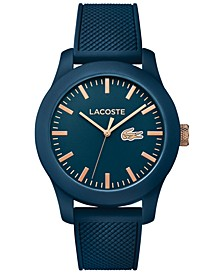 Unisex 12.12 Blue Silicone Strap Watch 43mm 2010817
