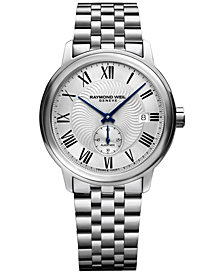 RAYMOND WEIL Men's Swiss Automatic Maestro Stainless Steel Bracelet Watch 40mm 2238-ST-00659