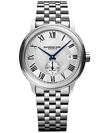 RAYMOND WEIL Men's Swiss Automatic Maestro Stainless Steel Bracelet Watch 40mm 2238-ST-00659