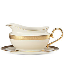 Lenox Westchester Collection Bone China 2-Pc. Gravy Boat Set