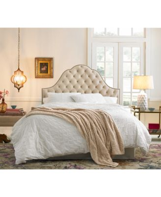 Jacqueline King Nail Button Tufted Arch Headboard, Quick Ship
