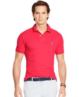 Polo Ralph Lauren Men\\u0026#39;s Custom-Fit Mesh Polo Shirt \u0026middot; Ralph Lauren Soft Green Mesh Men Sweaters