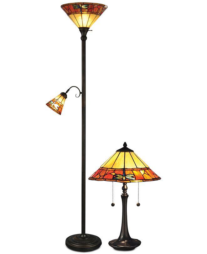 Dale Tiffany Genoa Metal Lamp Set