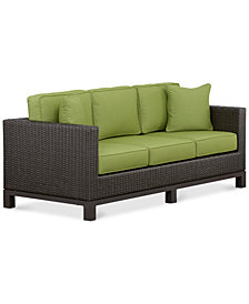 CLOSEOUT! Katalina Wicker Outdoor Sofa, Created for Macy's