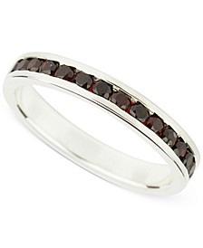 Garnet (1 c.t.t.w.) Channel-Set Eternity Ring in Sterling Silver