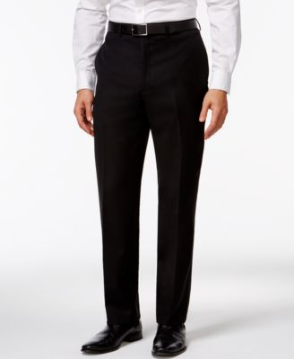 Black Solid Big and Tall Modern Fit Pants