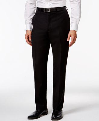 Calvin Klein Black Solid Modern Fit Pants - Suits & Suit Separates ...