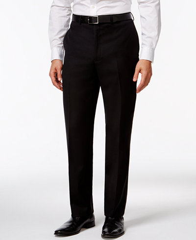 Calvin Klein Black Solid Modern Fit Pants - Suits & Suit Separates ...