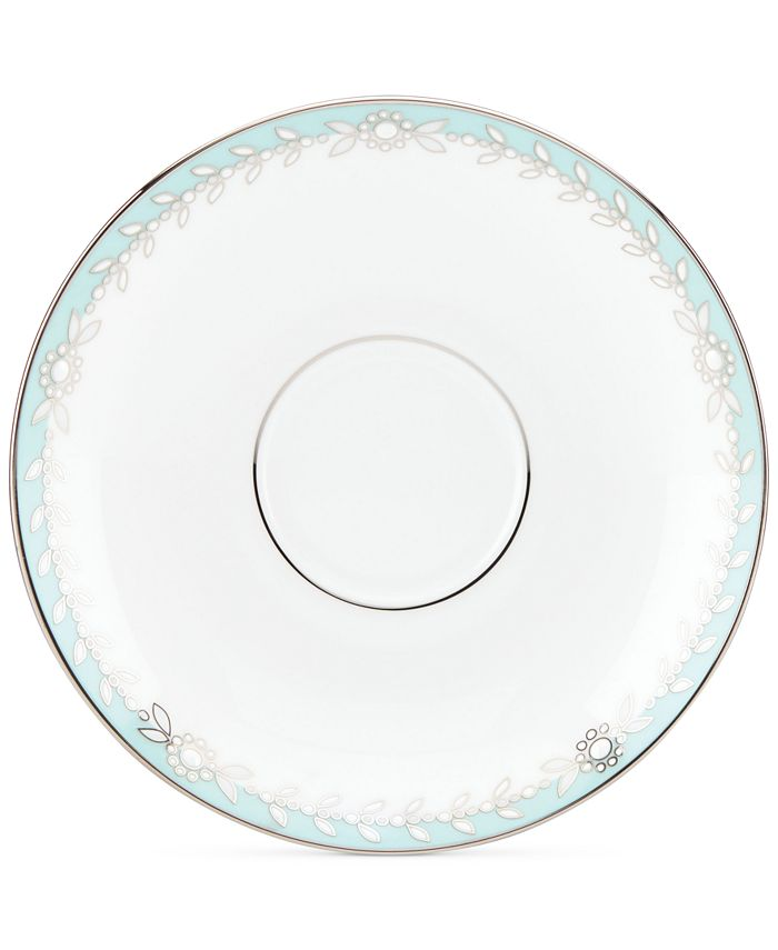 Marchesa by Lenox - Empire Pearl Turquoise Collection Bone China Tea Saucer