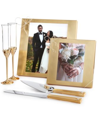 Love Knots Gold Toasting Flute Pair