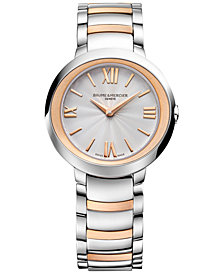 Baume & Mercier Women's Swiss Promesse Stainless Steel & 18k Rose Gold-Plated Bracelet Watch 30mm M0A10159