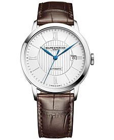 Men's Swiss Automatic Classima Dark Brown Leather Strap Watch 40mm M0A10214