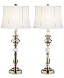 Pacific Coast Set of 2 Crystal Column Table Lamps