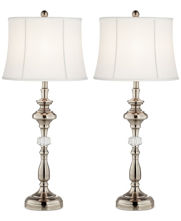 Kathy Ireland Pacific Coast Set of 2 Crystal Column Table Lamps