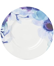 Indigo Watercolor Floral  Porcelain Accent/Salad Plate, Created for Macy's