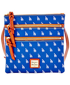 Dooney & Bourke Los Angeles Dodgers Triple Zip Crossbody Bag