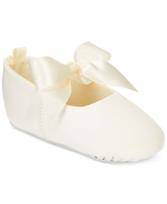 Pink White Bow Toddler Girl Shoes Infant Ballerina Booties Newborn Shoes