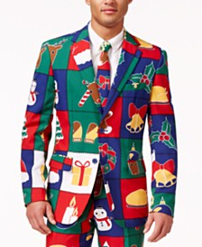 OppoSuits Men's Quilty Pleasure Christmas Suit