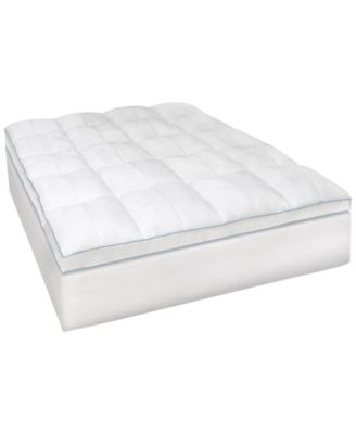 sensorgel memoryloft gelinfused memory foam and fiber mattress topper collection