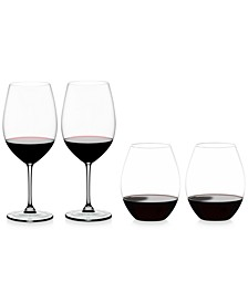 Vinum & O Collections Red Wine Glasses 4 Piece Value Set