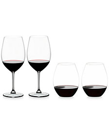 Riedel Vinum & O Collections Red Wine Glasses 4 Piece Value Set