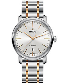Rado Men's Swiss Automatic DiaMaster Two-Tone Stainless Steel Bracelet Watch 41mm R14077113