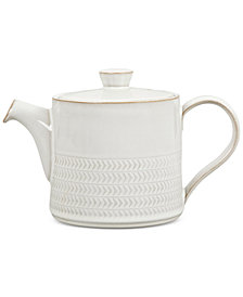 Denby Natural Canvas  Stoneware 2-Pc. Lidded Textured Teapot