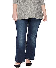 Jessica Simpson Plus Size Boot-Cut Maternity Jeans, Dark Wash