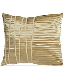 "Donna Karan Home Reflection Gold Dust 16"" x 20"" Pleated Decorative Pillow"