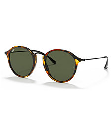 Ray-Ban Sunglasses, RB2447 ROUND FLECK