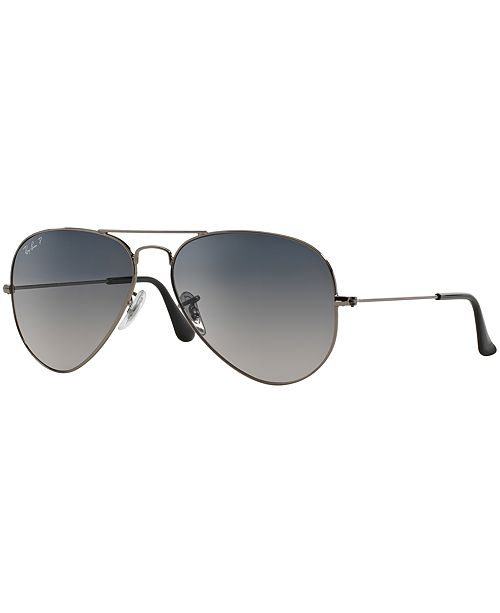 ed3dbab58abeb ... Ray-Ban Polarized Original Aviator Gradient Sunglasses
