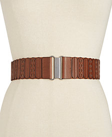I.N.C. Casual Panel Stretch Belt, Created for Macy's