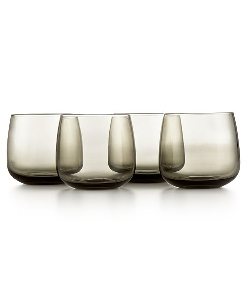 Hotel Collection CLOSEOUT! Modern Stemless Wine Glasses, Set of 4, Created for Macy's
