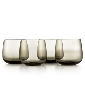 hotel collection modern stemless wine glasses set of 4 created for macyu0027s