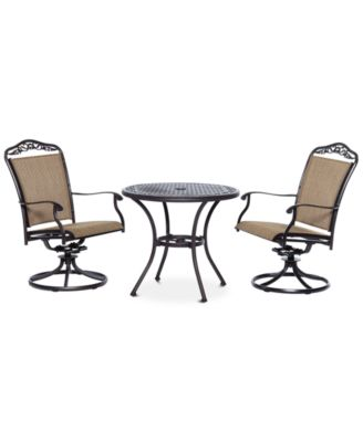 """Beachmont II Outdoor 3-Pc. Dining Set (32"""" Round Bistro Table and 2 Swivel Rockers), Created for Macy's"""