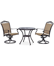 "Beachmont II Outdoor 3-Pc. Dining Set (32"" Round Bistro Table and 2 Swivel Rockers), Created for Macy's"