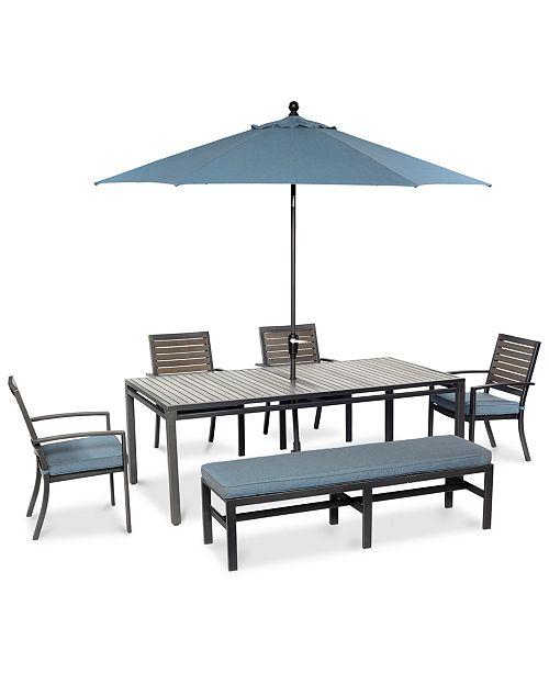 Strange Furniture Closeout Harlough Outdoor Aluminum 6 Pc Dining Machost Co Dining Chair Design Ideas Machostcouk