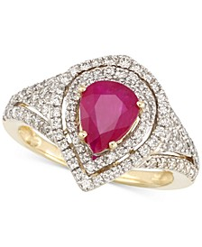 Certified Ruby (5/6 ct. t.w.) and Diamond (2/3 ct. t.w.) Ring in 14k Gold
