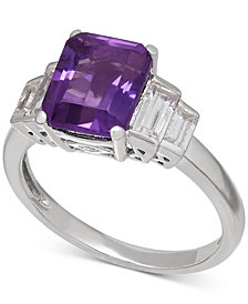 Amethyst (2-1/6 ct. t.w.) and White Topaz (1-1/2 ct. t.w.) Ring in Sterling Silver