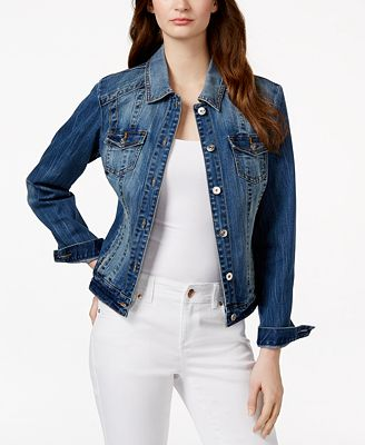 INC International Concepts Denim Jacket, Only at Macy's - Jackets ...