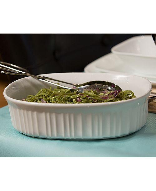 Corningware French White 18-Pc. Bakeware Set & Reviews - Bakeware - Kitchen - Macy's