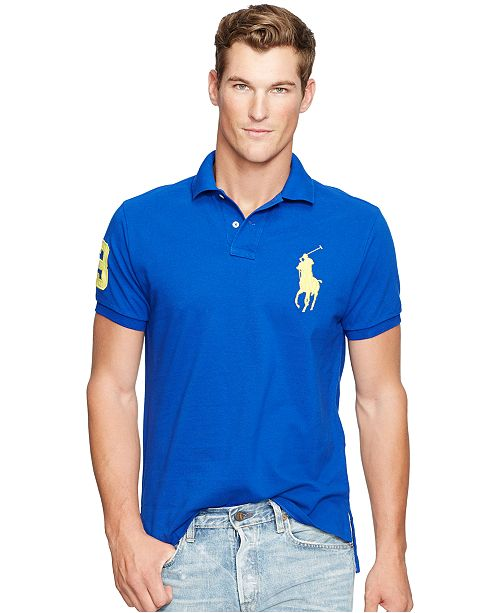 Pony Mesh Lauren Shirt Big Men's Fit Ralph Polo Custom mwO80vNn