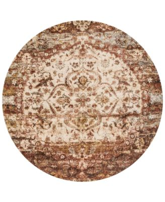 "Andreas   AF-06 Rust/Ivory 9'6"" Round Rug"